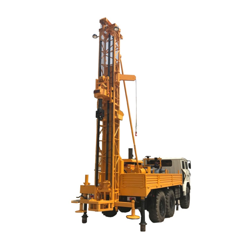 Mobile Small Hydraulic Rotary Drilling Rig / Bore Water Well Drilling Machine Price for Groundwater