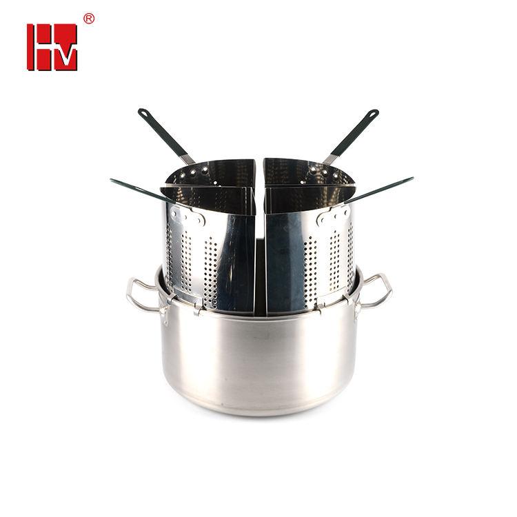 Thép không gỉ nồi mì ống mì ống nấu ăn pot set với 4 phần lọc và giỏ