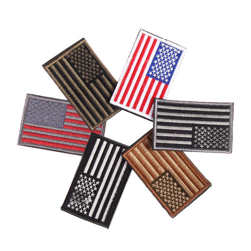 Good Quality Small Embroidery Patches American Flag Patches Personalized Embroidery Patch For Clothes