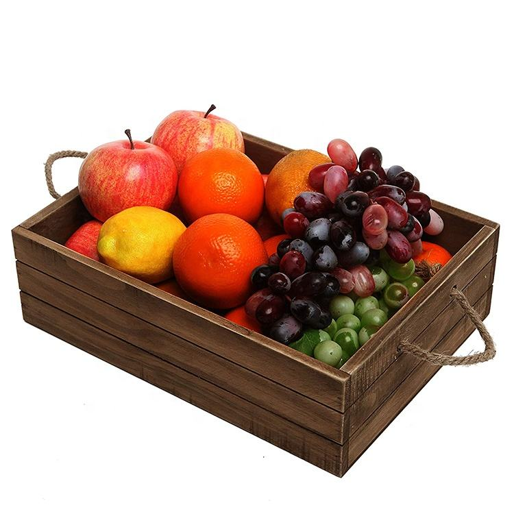 Teak Wooden Box Veget Wholesale Small Used Fruit Crate Size Apple Wooden Fruit Box Small Wood Crate