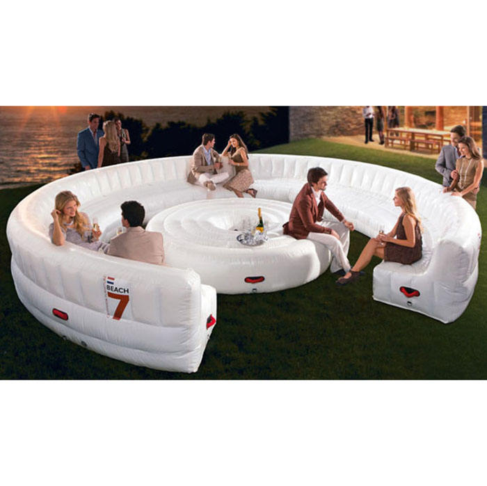 large thirty-person lounge inflatable sofas for parties