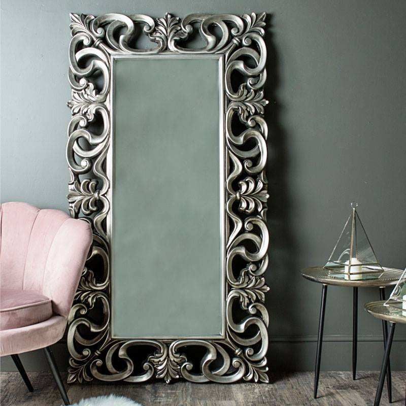 baroque decorative wall polyurethane framed mirror
