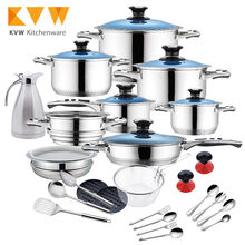 2018 Hot Selling 33Pcs Pots and Pans Sets Cookware Set Stainless Steel