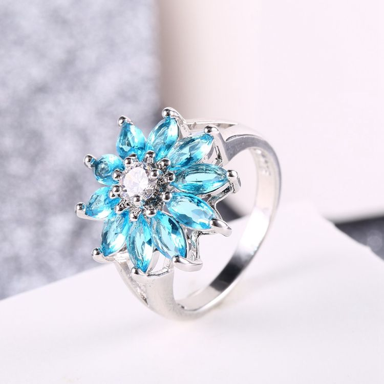 wholesale jewelry manufacturer sky blue bridal jewelry for young girl