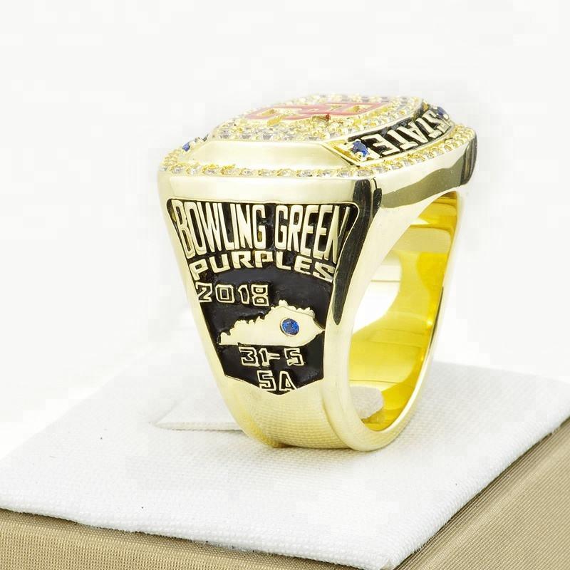 sport gold engraved high quality football champions rings fashion men custom national championship rings