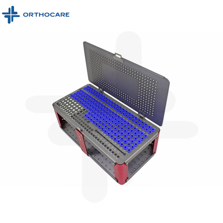 Empty Orthopedic 7.0mm Cannulated Screw Rack Instrument Case box