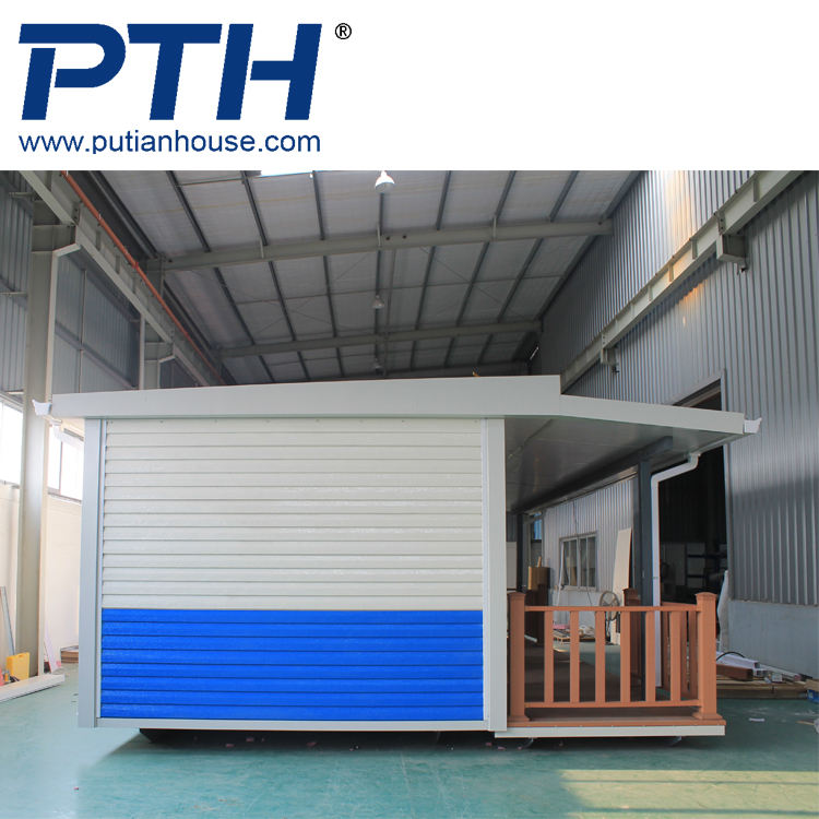 Ready-made wooden prefabricated modular house with LGS frame and glas wool insulation