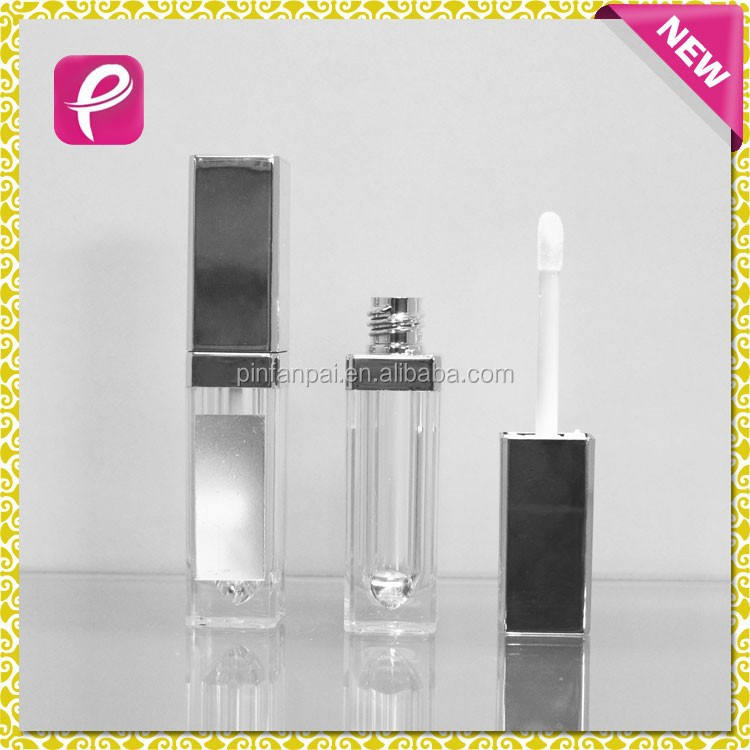 2015 New square bottle make your own lip gloss with mirror