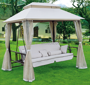 Outdoor Canopy Hanging Swing Chair Swing Bed With Sofa Seat