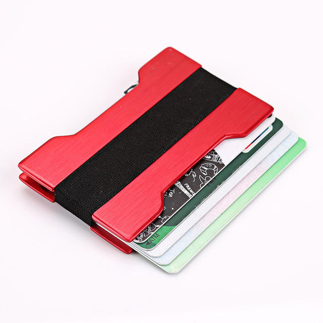 slim wallet card money clip metal mens wallet money clip smart wallet cardholders