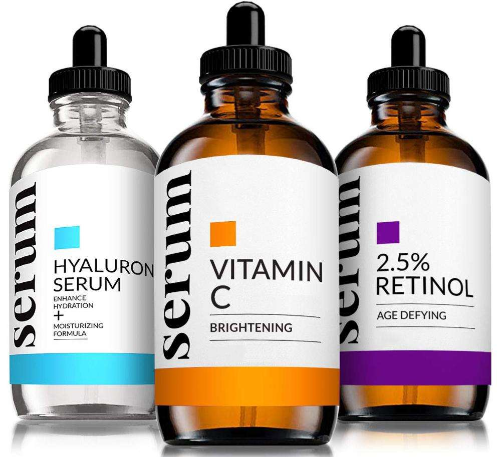 Free sample nourishing moisturizing skin care hyaluronic acid serum private label vitamin c serum