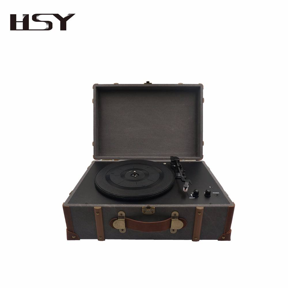 High end koper turntable record player vinyl record mesin built in speaker stereo