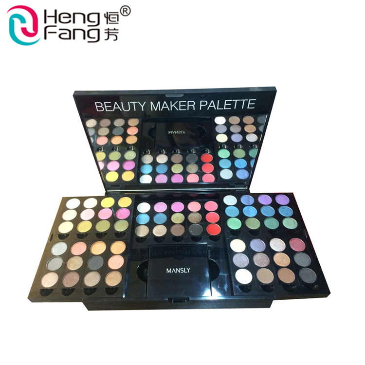 Professional Multi-colored Party Makeup Powder Shadow Type Cosmetic Halal Shimmer Eyeshadow
