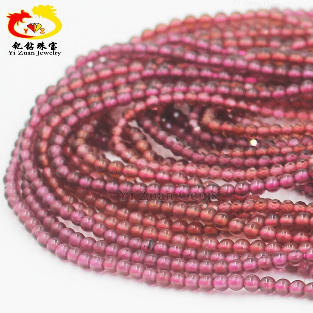 Hot sale natural garnet gems beads cabochon putaran bentuk red garnet beads strand