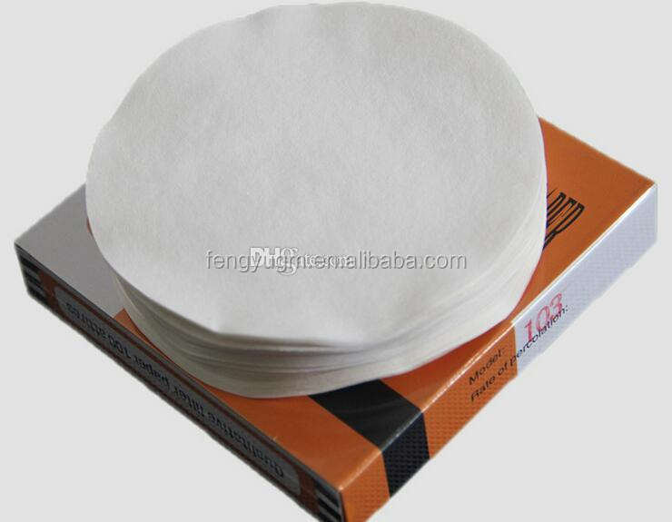 free shipping cheap 100PCS/box diameter 470mm round Qualitative filter paper fast speed Funnel filter paper