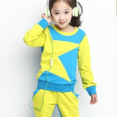 children's clothing new boys sets girls outfit sports suit casual five-pointed star child suit Baby Clothes for 3 to 7 years
