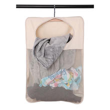 Colorful Over the door Hanging Laundry bag Hamper with Steel Hooks