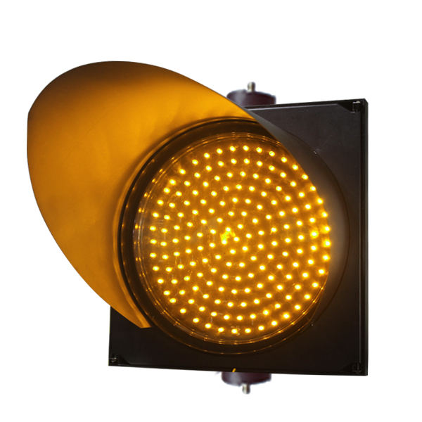 Hot Sale 300mm Single Yellow Flashing Traffic Light With PC Housing