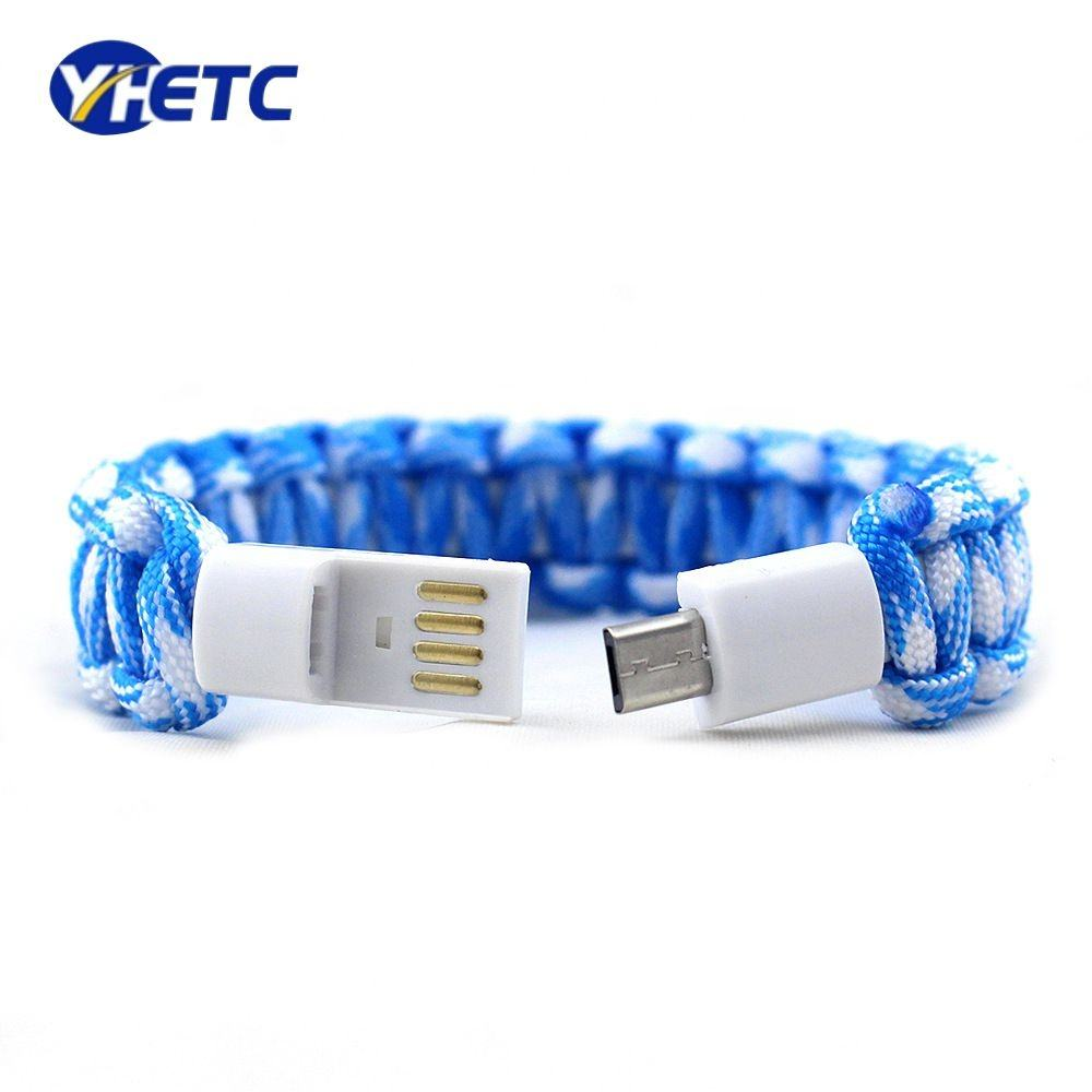 Weaving Rope Bracelet USB Cable data sync charging for Android Phone