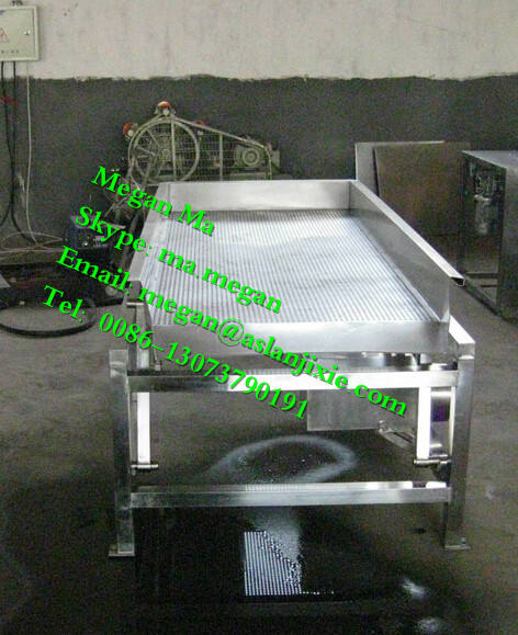 industrial fruit and vegetable vibrating draining machine