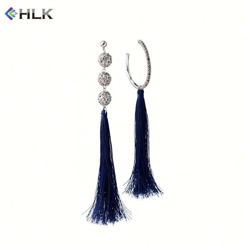 Istanbul turkey jewelry manufacturers saudi gold design photos Triple Balls and Hoop Tassel Earrings