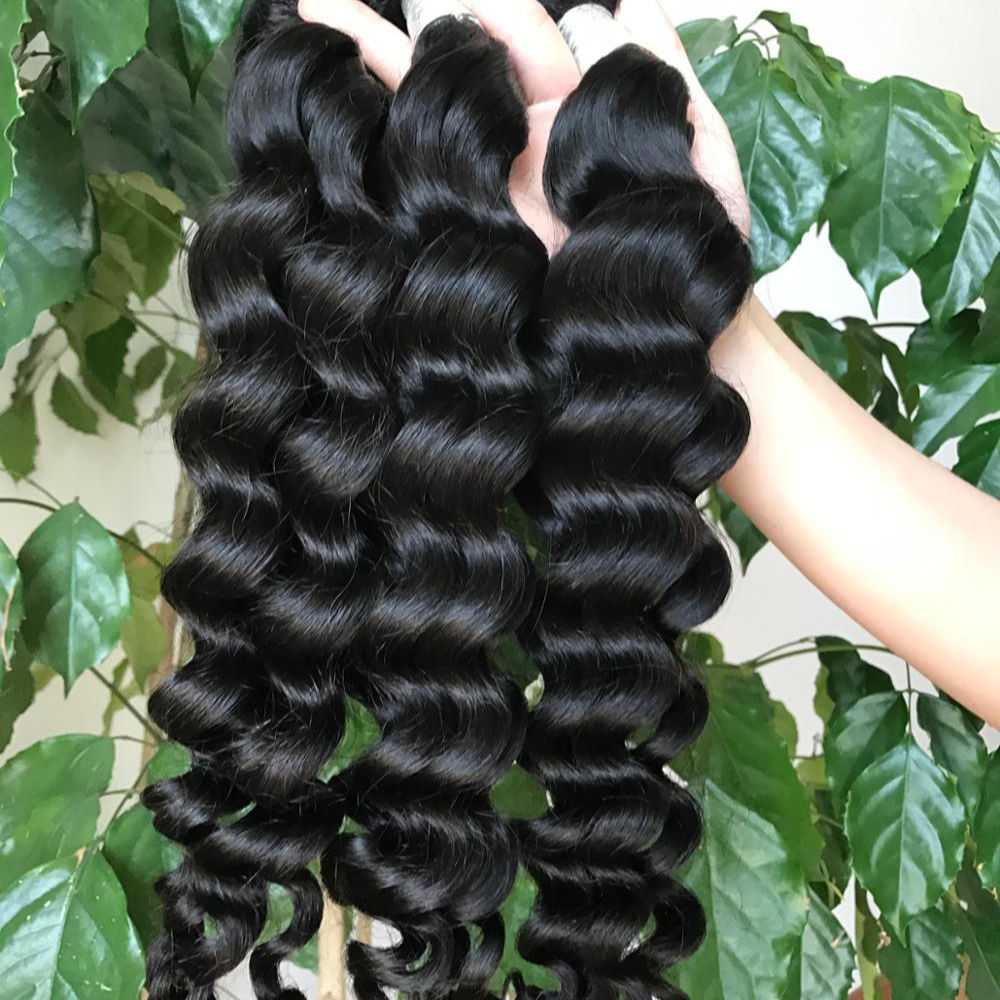 Raw Virgin Cuticle Aligned Hair weave Human Hair Extension High Quality Hair Weaving loose deep wave exotic wave bundles