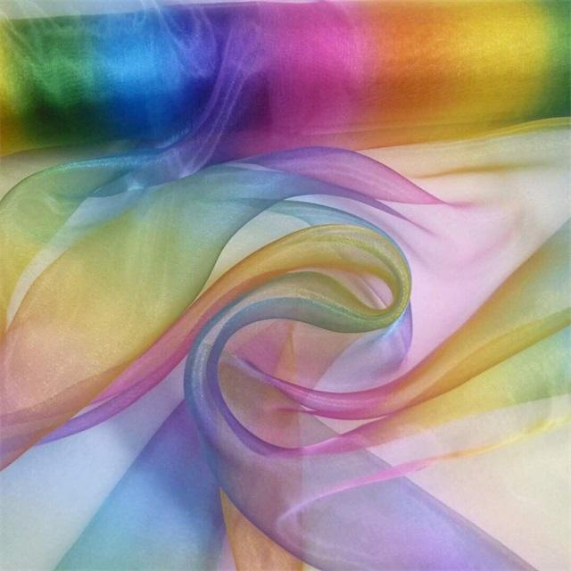 Rainbow Organza for Decoration and Dress
