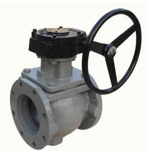 Soft Sealing Gear Operate Lined Plug Valve