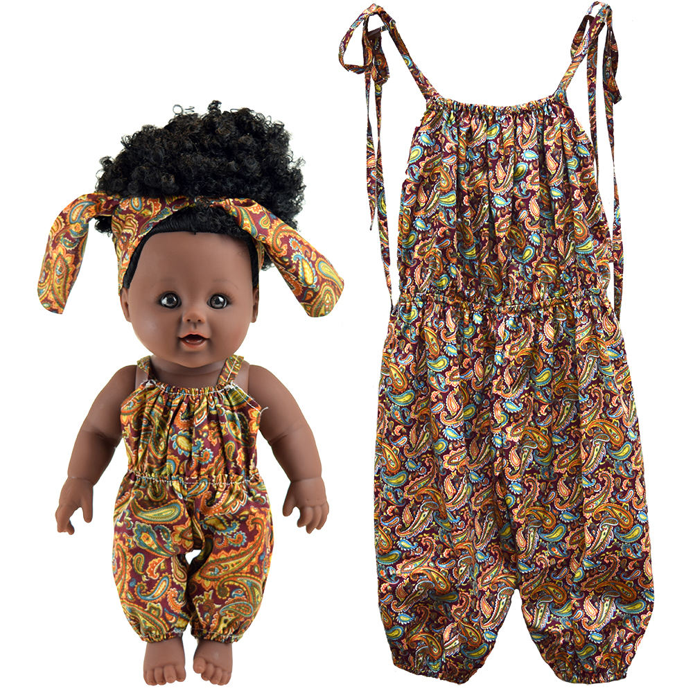 Factory custom wholesale baby clothes African style girls kids clothing as a gift for dolls and children