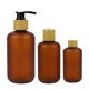 Wholesale shampoo lotion pet dispensing 250ml amber plastic bottle with pump lid