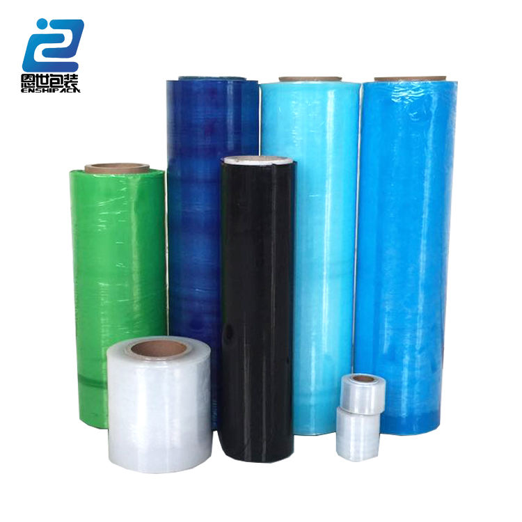 Recycle and Virgin white blue 20mic LLDPE Strech Film