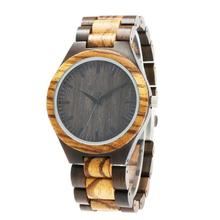 Zebra Black sandalWood Watch Personalized Quartz Wooden Watches Gift for Husband