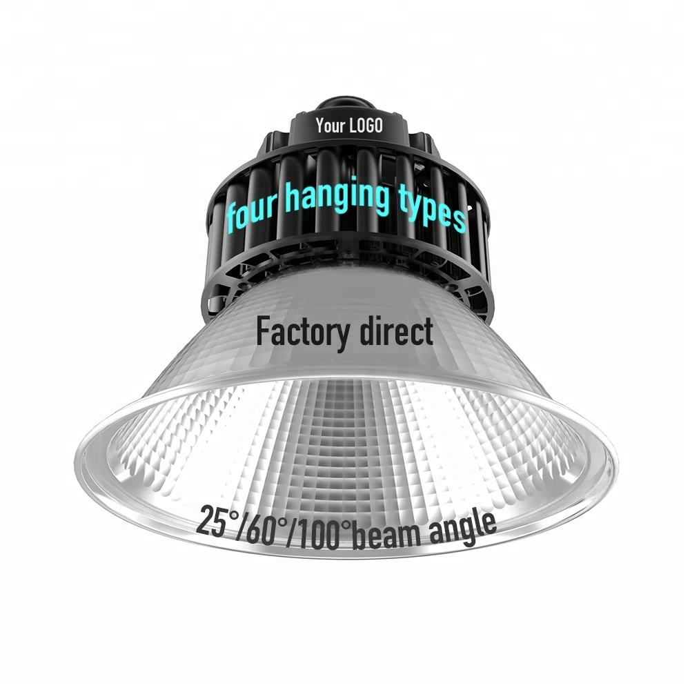 industrial cover badminton court 22000 lumen metal ip54 fixture dome reflector 60w 100w 150w 200w highbay led high bay light