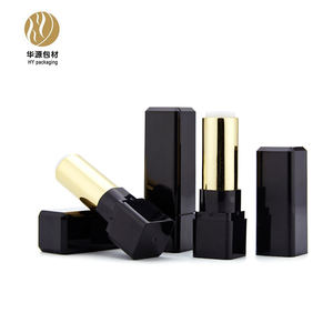 Lipstick Lipstick Lipstick Packaging High-end Black Rectangular 12.1mm Lipstick Tube Cosmetic Packaging
