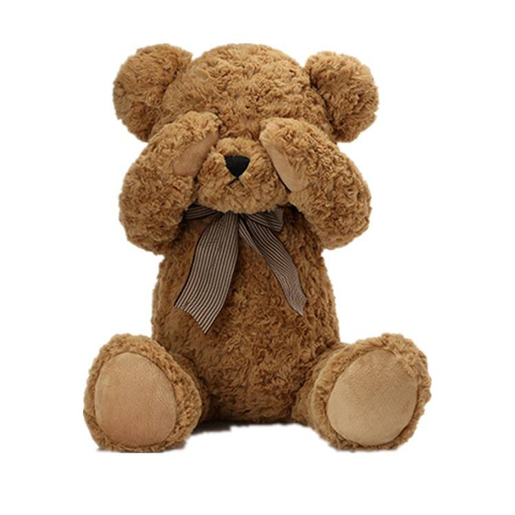 Custom super soft plush animal toy lovey teddy bear for kids