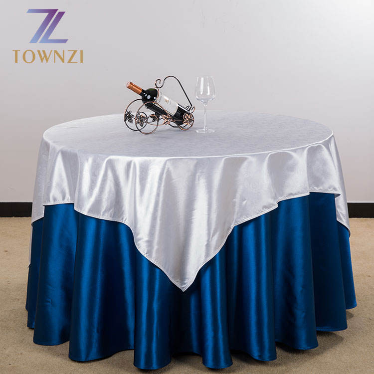 Europe Style Satin Tablecloth for Hotel Banquet Round Table Cover Manteles Fabric Dining Table Cloth For Hotel Office Wedding