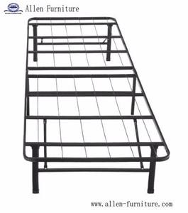 Military Mattress Foundation Queen Size Metal Platform Bed Frame With Headboard