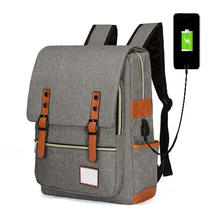 High quality cheap waterproof laptop backpack with USB charger Multifunction Laptop Bag Hiking Canvas Camping Laptop Bag