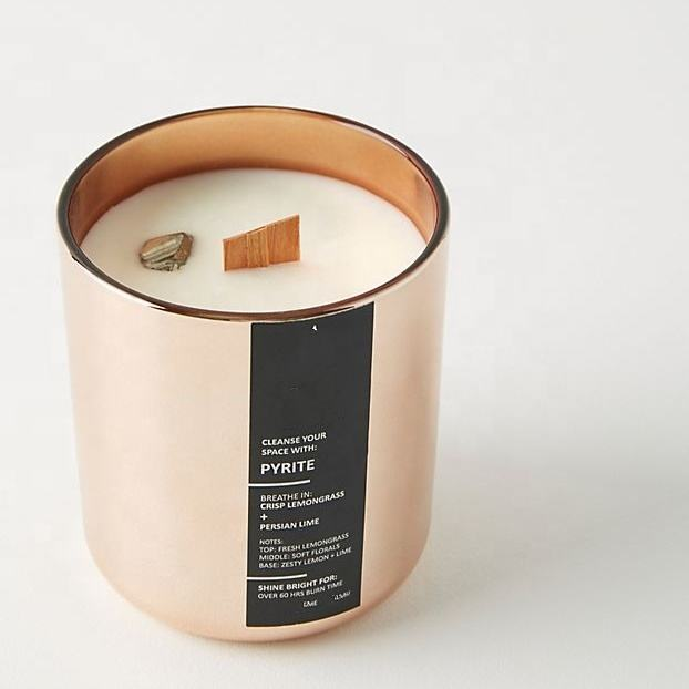 Copper Scented Candle With Custom made Private Label wholesale personalized luxury candle
