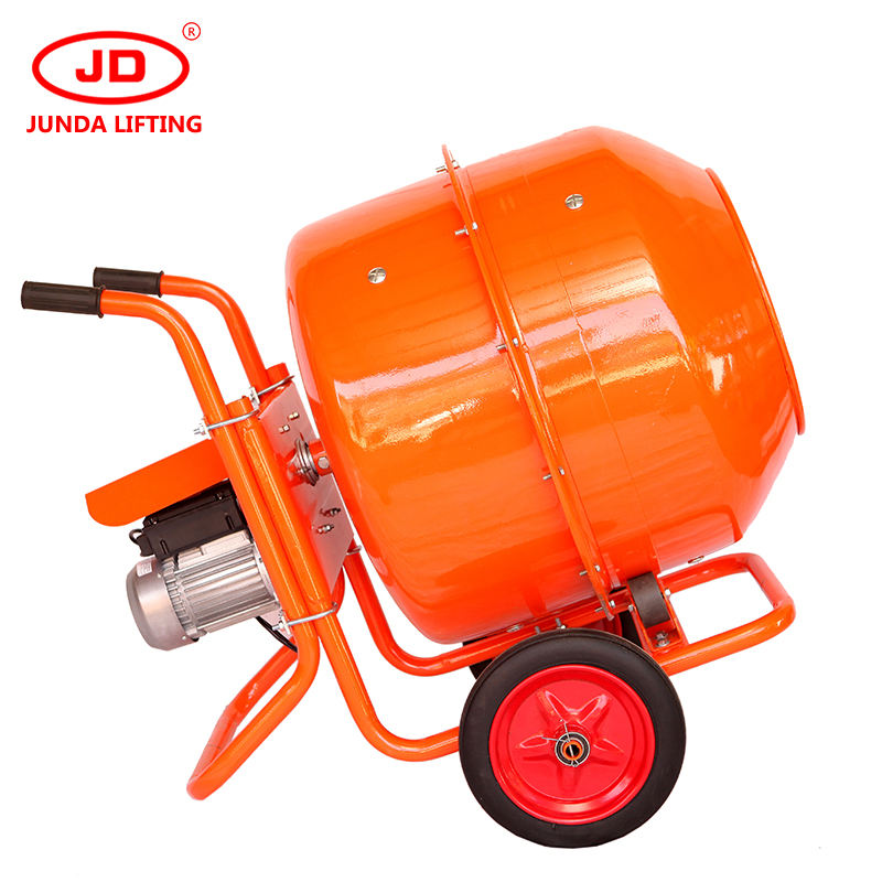 Electric portable cement concrete mixer machine concrete feed mixer