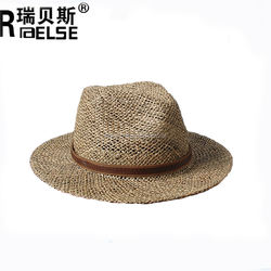 Custom Sea Grass Straw Hat Belt Bands Straw Panama Hat
