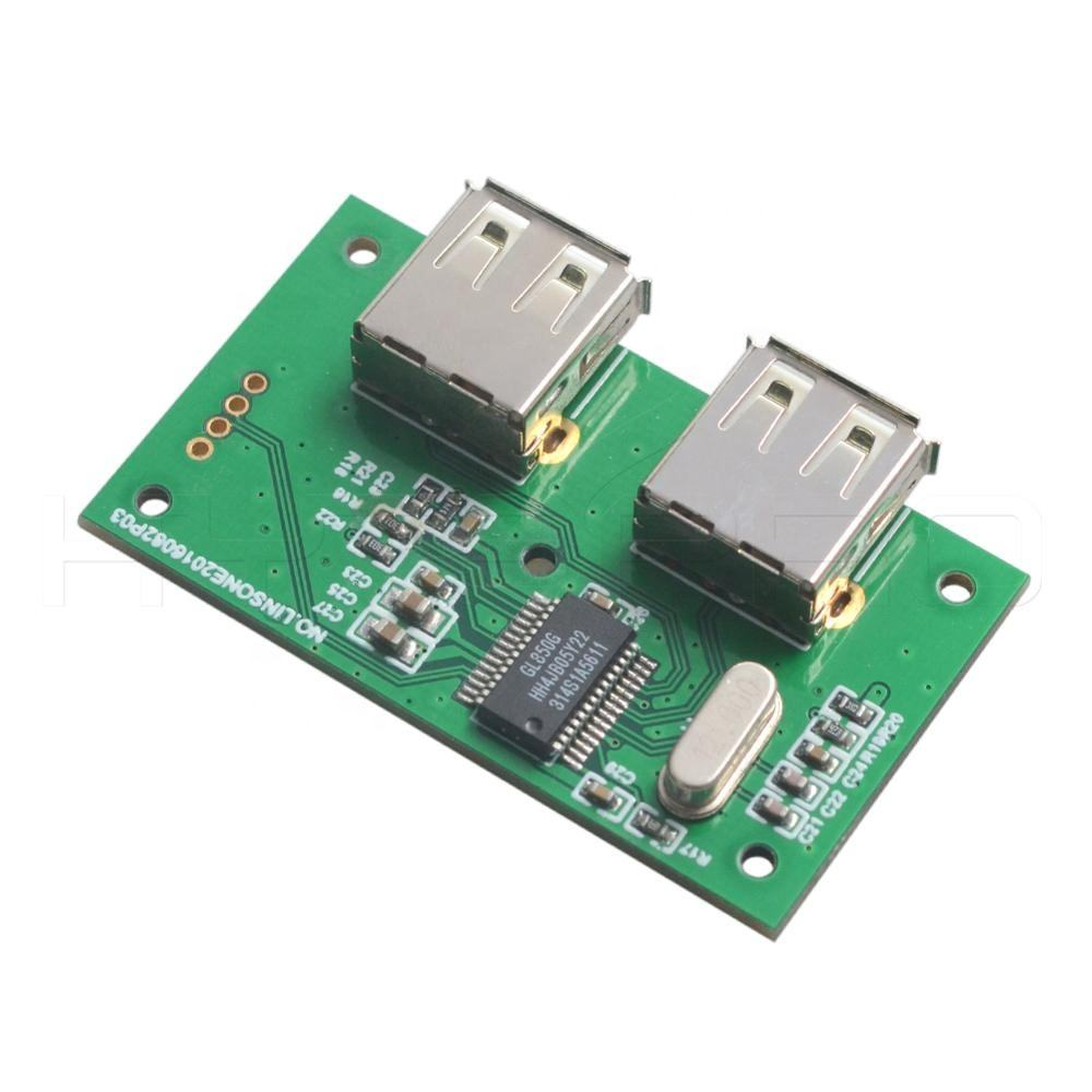 프리미엄 USB 2.0 motherboard internal 확 2 port hub pcb board module