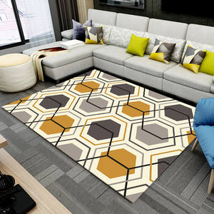 100%polyester geometry carpets rugs for living room kids bedroomm 3D printed rug carpet for outdoor anti slip door mat