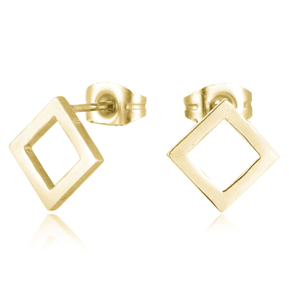 Cheap Stainless Steel 6Mm 14K Gold Earrings Women Stud Earrings