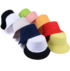 China Wholesale High Quality Fashion Cheap Custom Logo solid color 100% cotton bucket hat