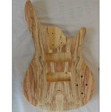 Cheap China Unfinished Electric Bass Guitar Kits With Spalted Maple Top