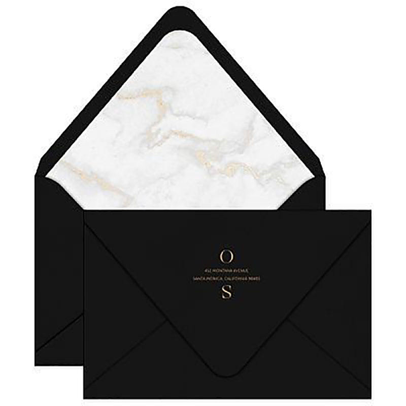 Custom Color Fashionable Pretty Wedding Invitations Envelopes
