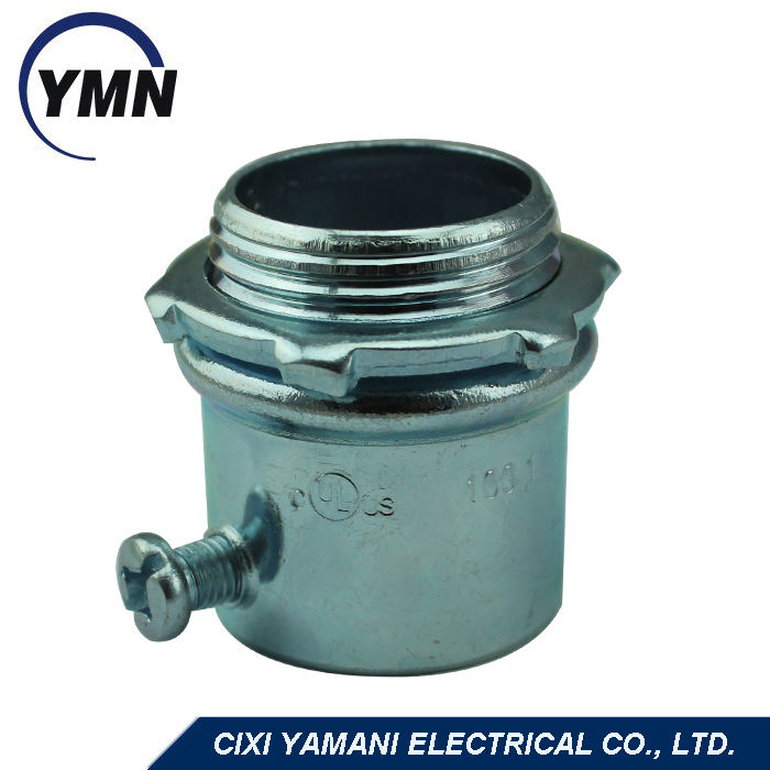 UL Listed Factory Price Zinc Plated Steel EMT Connector