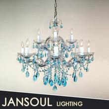 2 layer 12 lights blue Mara theresa crystal chandelier