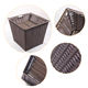 Best quality promotional plastic woven laundry handmade rattan basket